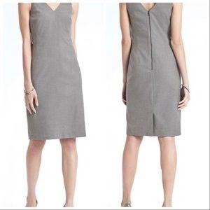 BANANA REPUBLIC Grey Luxe Twill Sheath Dress NWT